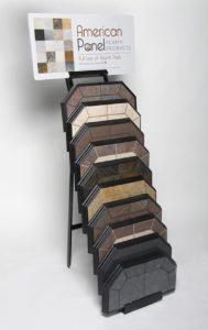 vertical rack display of hearth pads