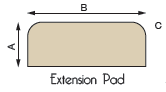 Extension Hearth Pad Diagram