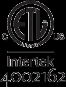 ETL Listed Intertek 4002162 Symbol